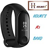 HOLME'S Activity Tracker/Bracelet Watch for Men/Fitness Watch for Women/Fitness Watch for Men/Health Watch/Health Band/Health Band & Activity Tracker/Wrist Smart Band/Heartbeat Watch (Black)