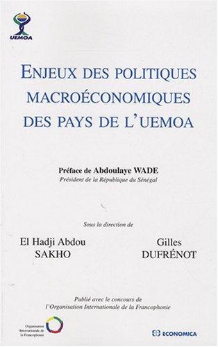 Enjeux des politiques macroéconomiques des pays de l'UEMOA par Collectif