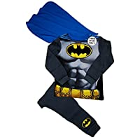 Marvel Boys Batman Fancy Dress Up Costume Pyjamas Detachable Cape 2-3 3-4 5-6 7-8 Years