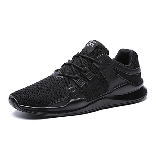 Men's Running Shoes Lightweight Sports Trainers Gym Walking Trainers Fitness for Men/Women,Black,10...