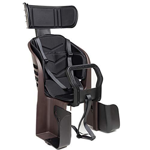 BTSECH Fahrrad-Kindersitz Rücksitz Kindersitz Mountainbike Reisegurt mit Armlehne Rückenlehne und Fußpolster