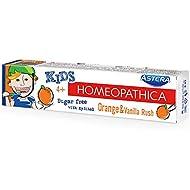 AROMA Toothpaste Astera Homeopathica Kids 4+ Orange and Vanilla Rush, 50 ml