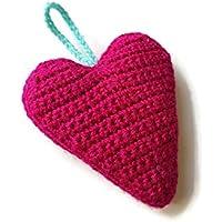 Corazón rosado regalo decoración fucsia para su amor cuelga ornamento cuarto de niños dormitorio