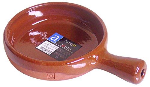 A Fuego Lento Cazuela Sartén Llana Horno, Barro, Miel, 17 cm