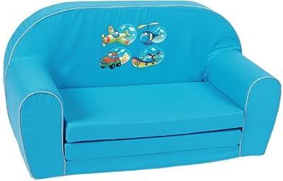 Knorr-baby 430185 - Sofá infantil con diseño de vehículos, color azul de Knorr