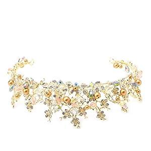 SimpleLife Braut Prinzessin österreichischen Strass Krone Haar Tiara Hochzeit Krone Schleier Stirnband