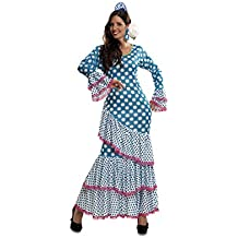 My Other Me - Disfraz de Flamenca, talla M-L, color azul (Viving Costumes MOM01112)