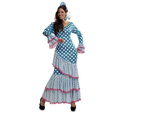 Imagen de my other me  disfraz de flamenca, talla m l, color azul viving costumes mom01112