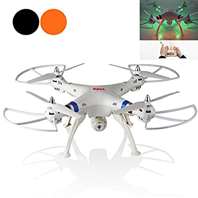 Large Size Syma X8C 4 Channel 6 Axis 2.4G RC Remote Control Quadcopter With 200W Pixels HD Camera Flash Light Helicopter Airplane Quad Copter Plane Aircraft Model Toys