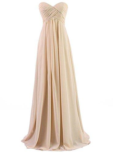 Eudolah Maxi robe de soiree/cocktail bustier avec bandeau plisse demoiselle d'honneur Femme Beige