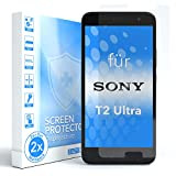 EAZY CASE 2X Panzerglas Bildschirmschutz 9H Härte für Sony Xperia T2-Ultra, nur 0,3 mm dick I Schutzglas aus gehärteter 2,5D Panzerglasfolie, Bildschirmschutzglas, Transparent/Kristallklar