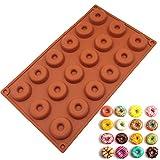 JasCherry Silikon Backform für Schokolade, Cupcakes, Kuchen, Muffinform für Muffins, Pudding, Eiswürfel und Gelee - Donuts #1