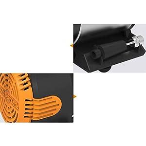 Compresor portátil Bomba de aire del coche - Compresor eléctrico de 12 V con luz LED, con tres adaptadores para el coche, bicicleta y bolas inflables, etc.