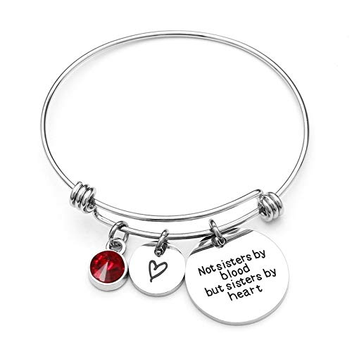 IJEWALRY Damenarmband Armbänder Armband,Mode Feiner Bester Freund Geburtstagsgeschenk Birthstone Bettelarmband Für Frauen Edelstahl Freundschaft Armreif (Birthstone Armreif)
