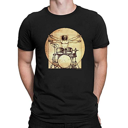 403ec39581 Hombres Y Damas Da Vinci Drummer T-Shirt Mens Ladies Unisex Fit Drums Music