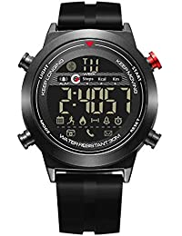 Wrath Smart Bluetooth Connected Black Sporty Strap Black Dial Activewear Smart Watch (Pedometer, Call, Camera Operations, Calories, App Notifications & More -Andriod & iOS Apps Available) (Black)