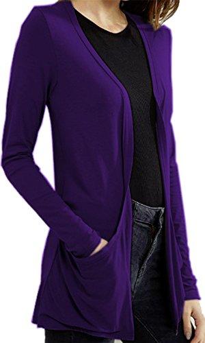 Vanilla Inc - Gilet - Manches Longues - Femme noir * Taille Unique Violet