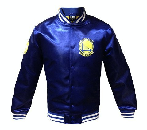 New Era Golden State Warriors Tip Off Satin NBA Jacke Blau, M