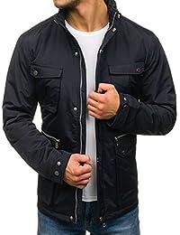 BOLF Herren Steppjacke Übergangsjacke elegant Jacke Stehkragen Kapuze 4D4