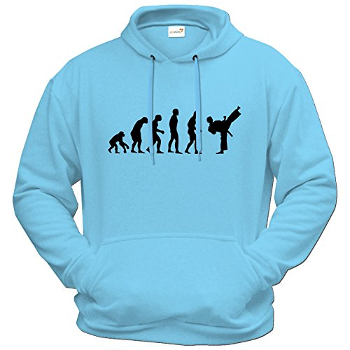 getshirts-best-of-hoodie-fun-evolution-karate-pastellblau-l