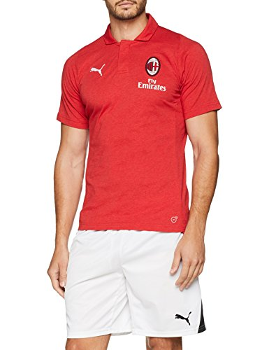 Puma Herren AC Milan Casual Performance Polo SS with Sponsor T-Shirt, Chili Pepper Heather Preisvergleich