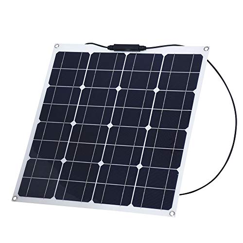 Características: Panel solar multifuncional: perfecto para la carga de baterías de 12 V o paneles múltiples que se pueden conectar en serie para la carga de baterías de 24/48 voltios o para aplicaciones conectadas a la red. Diseño flexible, puede ser...