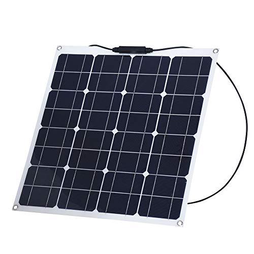 Zerone 50W 12V Solar PanelMonokristallinFlexible Solarzellen SolarmodulCharger System für Camping/ Wohnwagen / Boot / Yacht / Wohnmobil