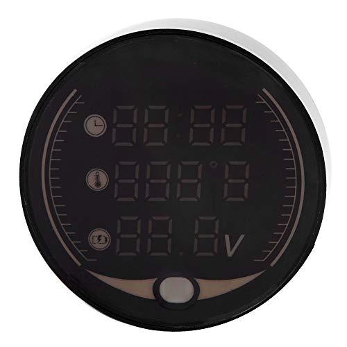 Voltmetro - 3-in-1 Moto Termometro digitale Voltmetro Termometro temperatura orologio