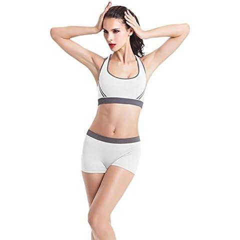 Camicia Piccolo Cane, Dog Shirt, Ouneed® Donne Imbottito di yoga del Reggiseno a Spalle Scoperte Athletic Vest Gym Fitness bicchierini (Bianca, S)