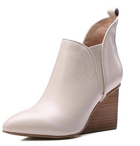 WSS chaussures à talon haut Wedges Martin fait fashion manche que Western bottes meters white