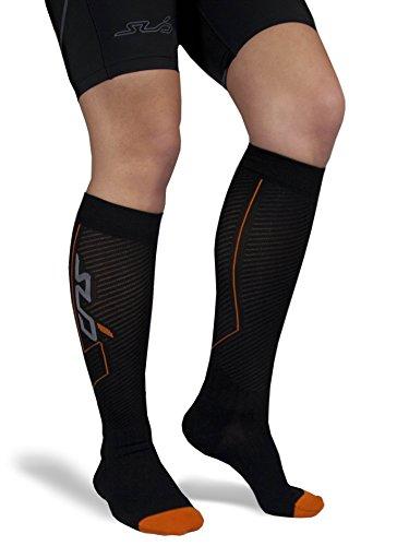 Sub Sports Herren und Damen Kompressions-Socken zur Schienbeinstützung, knielang - Schwarz - L (EU 43-46) (Kompression-socken)