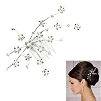 Gaddrt Gem Crystal Wedding Bridal Fairy Jewelry Princess Hair Jewelry Accessories Silver 18