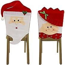 Autumn Love un paio di Mr & Mrs Babbo Natale con Red Hat sala da pranzo Seggiolone Coprisedia W: 44cm per decorazioni feste di Natale Accessori