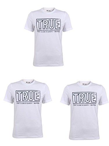 Mustang Herren T-Shirt Logo Special Tee im Günstigen 3er Pack, Größe:S, Farbe:General White (2045) -