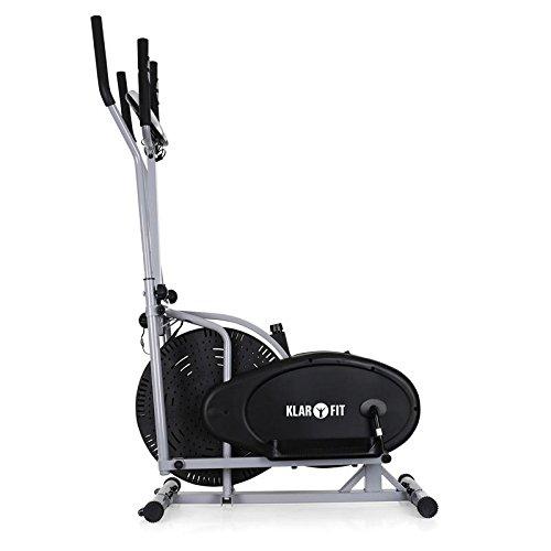 Klarfit ORBIFIT ADVANCED Heimtrainer Crosstrainer inkl. Trainingscomputer & Pulsmesser (stufenlos verstellbarer Widerstand, höhenverstellbarer Lenker, Anzeige: Kalorienverbrauch) silber - 4