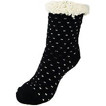 Ferocity Mujer Calcetines térmicos ricos en algodón para resbalón para ...