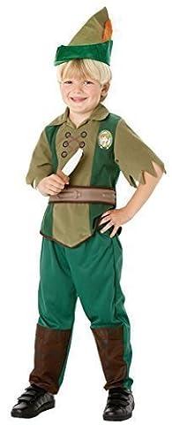 Offiziell Lizenziert Disney Jungen Peter Pan Büchertag Woche Halloween Kostüm Kleid Outfit - Grün, Grün, 3-4