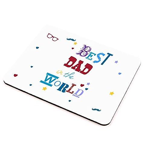 Best Dad In The World Mauspad–tolle Geburtstag, Weihnachten oder jeden Anlass Geschenk für jeden Dad in the (Geschenk Ideen Dad Geburtstag)