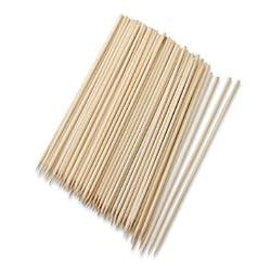 Okayji Bamboo Skewers / Kabab / Burger / Barbecue Sticks 6 inch (Pack of 100)