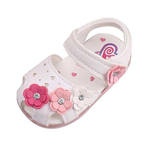Babyschuhe Sandalen Kinder Sommer Schuhe LED Sandalen Kinderschuhe Mädchen Sandalen Kleinkind Schuhe Outdoor Sandalen Prinzessin Schuhe Licht Sandalen LMMVP (0-4Jahr) (Weiß, 19 (3-4Jahr)) (Kleinkind-größe 4-weiß Schuhe)