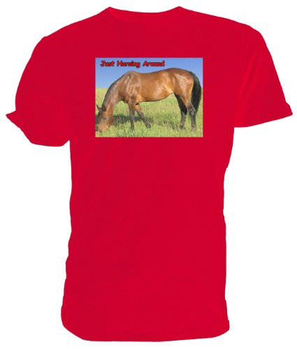 Bay cavallo Horsing a T Rosso (rosso)