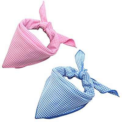 HOMIMP 2 Pack Dog Cooling Bandanas 44 X 44 cm Pet Scarfs Pink & Blue by HOMIMP