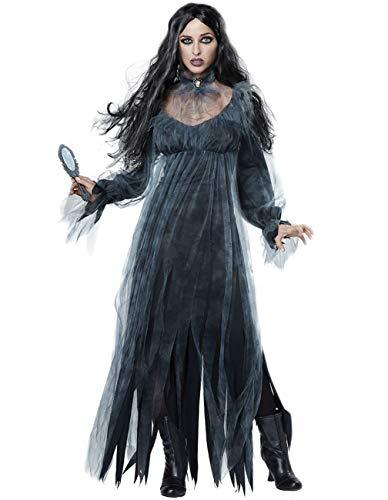 Fortuning's jds donne orrore festa di halloween fantasma sposa vestito collane vampiro costume (2pcs)