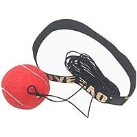STRIR Fight Ball, Boxing Fighting Ball Portátil Saco de Boxeo, Diadema de Boxeo, Mejore la Velocidad y Agilidad Equipo de Entrenamiento Punchingballs para Adultos MMA Exercise Fitness (Rojo)