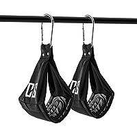 Capital Sports Armlug - Ab Slings pour suspension par les coudes pour abdominaux / Sangles avec mousquetons en métal supportant 120 kg max. avec rembourrage doux