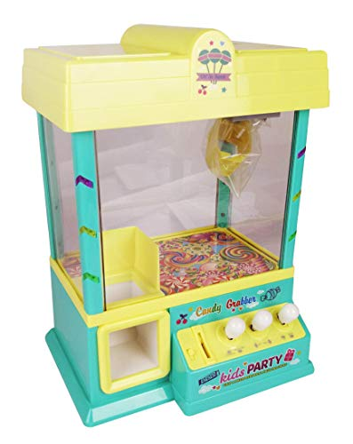 Best For Kids Candy Grabber Süßigkeitenautomat AUT-4883 Süßigkeiten Greifautomat Greifer Spielautomat gelb