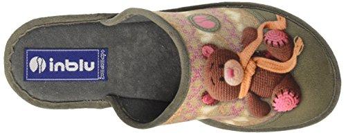 INBLU Ci000070, Pantofole Aperte sulla Caviglia Donna Grigio