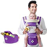 SKFG Babytrage/Kindertrage-Bauchtrage,Baby Und Kindertrage RüCkentrage,100% Polyesterfaser/Variable Blickrichtung/Mitwachsend,Verstellbar-FüR (3.2 Bis 20Kg),Purple,Autumnandwinter