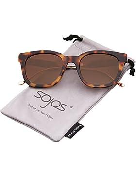SOJOS Gafas De Sol Unisex Hombre Mujer Clásico Retro Cuadrado Polarizado SJ2050