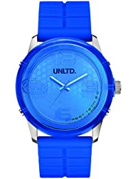 Marc Ecko Men's Quartz Watch with Blue Dial Analogue Display and Blue Silicone Strap E11539G3